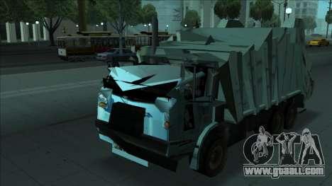 TDK Volvo Xpeditor Garbage Crash Version for GTA San Andreas back view