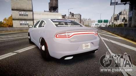 Dodge Charger 2015 Unmarked [ELS] for GTA 4 back left view