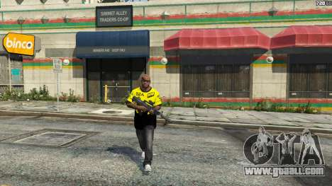 GTA 5 T-shirt for Natus Vincere Franklin fourth screenshot