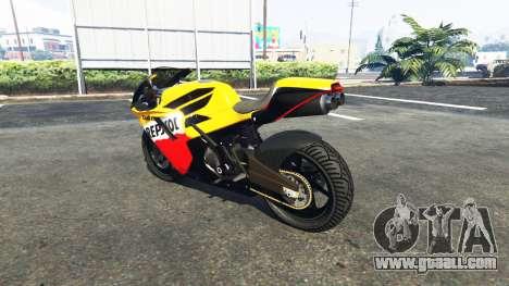 GTA 5 Pegassi Bati 801RR Repsol left side view