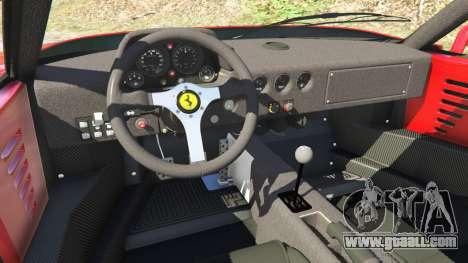 GTA 5 Ferrari F40 1987 v1.1 rear right side view