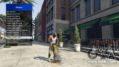 Scenario Menu 1.1 for GTA 5