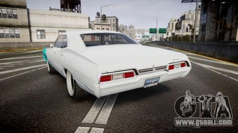 Chevrolet Impala 1967 Custom livery 1 for GTA 4 back left view