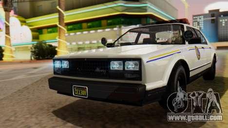 GTA 5 Albany Esperanto Police Roadcruiser for GTA San Andreas