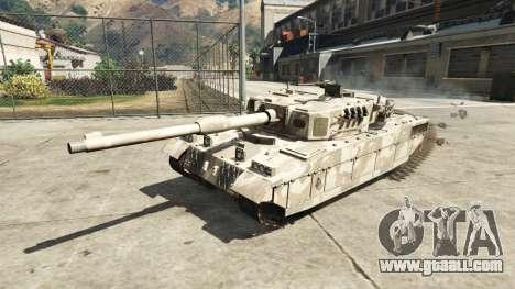 GTA 5 Miniature Rhino tank rear left side view