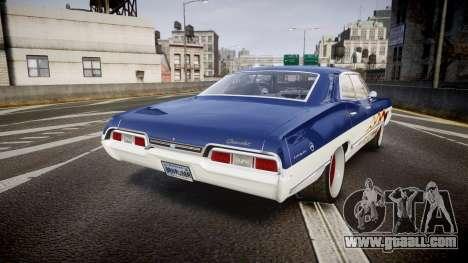 Chevrolet Impala 1967 Custom livery 3 for GTA 4 back left view