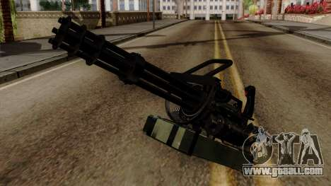 Original HD Minigun for GTA San Andreas