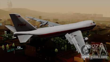 Boeing 747 TWA for GTA San Andreas left view