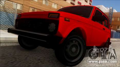 VAZ 2121 Niva BUFG Edition for GTA San Andreas upper view