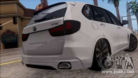 BMW X5 F15 BUFG Edition for GTA San Andreas back left view