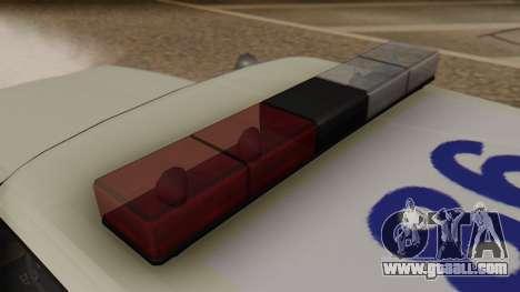 GTA 5 Albany Esperanto Police Roadcruiser for GTA San Andreas back view