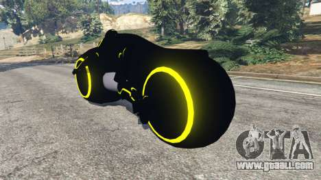 GTA 5 Tron Bike yellow rear left side view