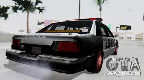 Police LS with Lightbars for GTA San Andreas left view