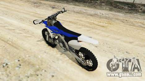 GTA 5 Yamaha YZ 250 [Beta] rear left side view