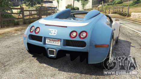 GTA 5 Bugatti Veyron Grand Sport v2.0 rear left side view