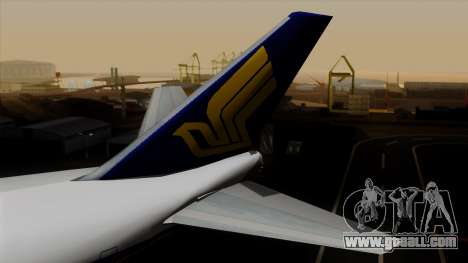 Boeing 747 Singapore (Old) for GTA San Andreas back left view