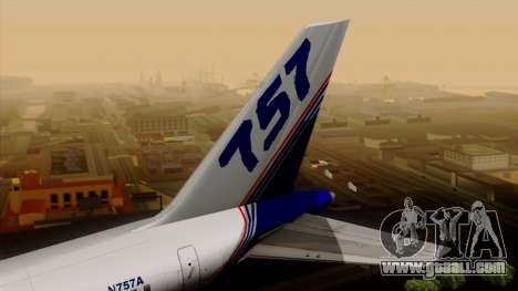 Boeing 757-200 (N757A) for GTA San Andreas back left view