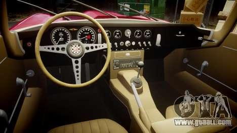 Jaguar E-type 1961 for GTA 4 inner view