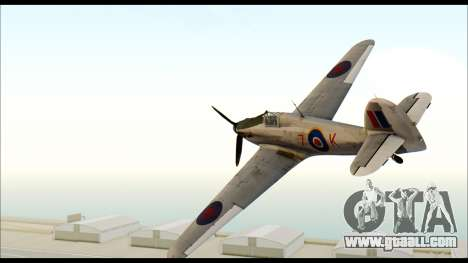 Hawker Hurricane MK IA for GTA San Andreas left view