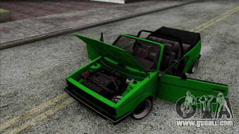 Volkswagen Golf Cabrio VR6 for GTA San Andreas back view