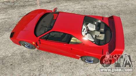 GTA 5 Ferrari F40 1987 v1.1 back view
