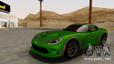 Dodge Viper SRT GTS 2013 HQLM (HQ PJ) for GTA San Andreas inner view