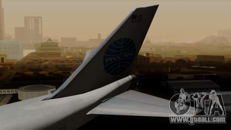 Boeing 747 PanAm for GTA San Andreas back left view
