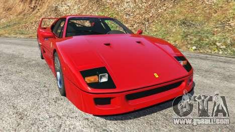 Ferrari F40 1987 v1.1 for GTA 5