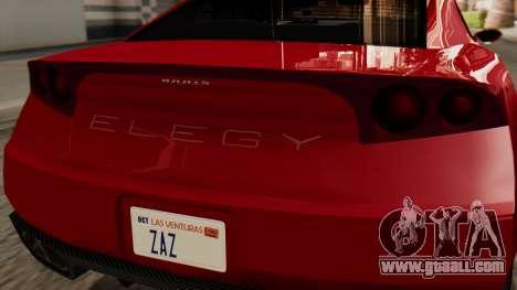 GTA 5 Annis Elegy RH8 IVF for GTA San Andreas back view