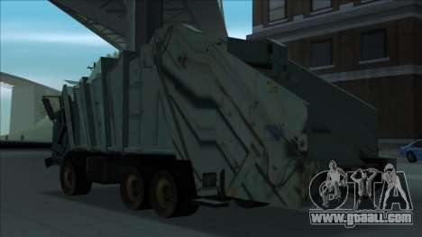 TDK Volvo Xpeditor Garbage Crash Version for GTA San Andreas back left view