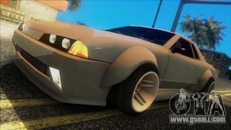 Elegy Rocket Bunny Edition for GTA San Andreas back left view