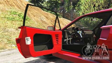 GTA 5 Ferrari F40 1987 v1.1 steering wheel