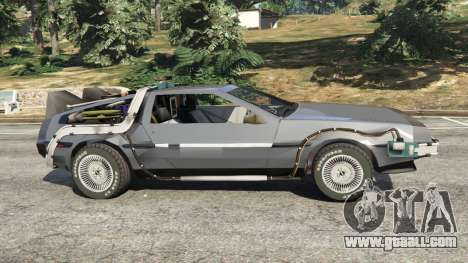 GTA 5 DeLorean DMC-12 Back To The Future v0.1 left side view