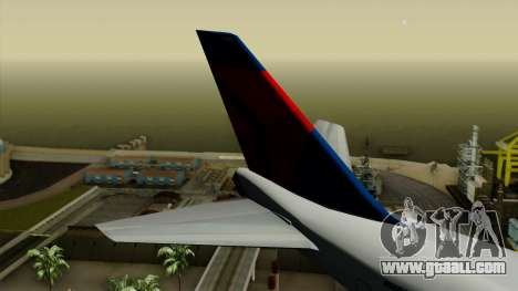 Boeing 747 Delta for GTA San Andreas back left view