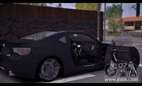 Toyota GT86 2012 BUFG Edition for GTA San Andreas back view