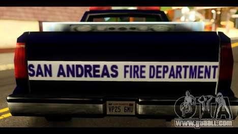 FDSA Brush Patrol Car for GTA San Andreas back left view