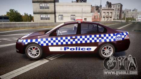 Ford Falcon FG XR6 Turbo NSW Police [ELS] v3.0 for GTA 4 left view