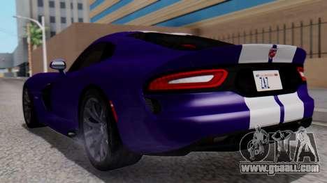 Dodge Viper SRT GTS 2013 HQLM (HQ PJ) for GTA San Andreas left view