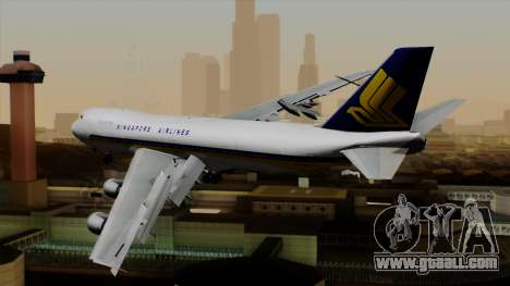 Boeing 747 Singapore (Old) for GTA San Andreas left view