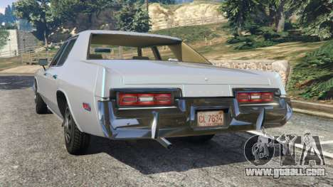 GTA 5 Dodge Monaco 1974 [Beta] rear left side view