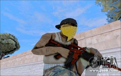 M4A1 Crimzone for GTA San Andreas forth screenshot