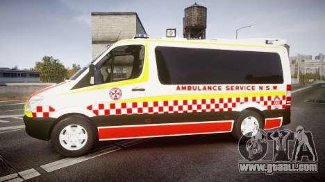 Mercedes-Benz Sprinter NSW Ambulance [ELS] for GTA 4 left view