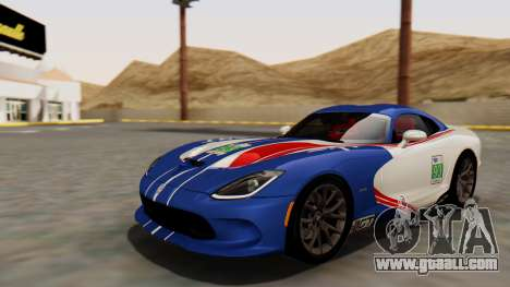 Dodge Viper SRT GTS 2013 HQLM (HQ PJ) for GTA San Andreas side view