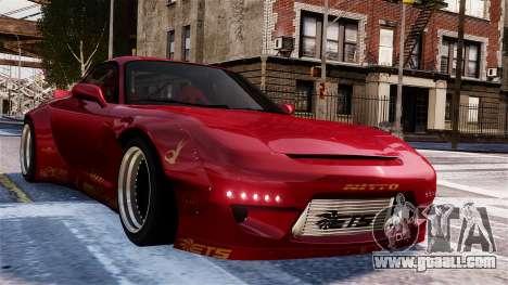 Mazda RX-7 RocketBunny EPM for GTA 4 side view