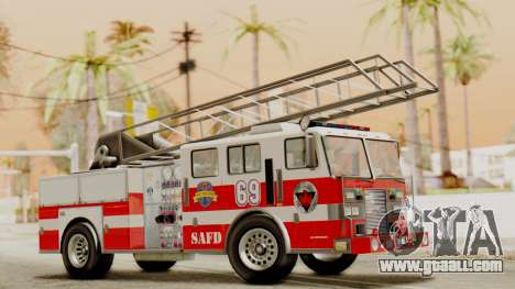 SAFD Fire Lader Truck Flat Shadow for GTA San Andreas