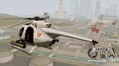AH-6J Little Bird for GTA San Andreas left view