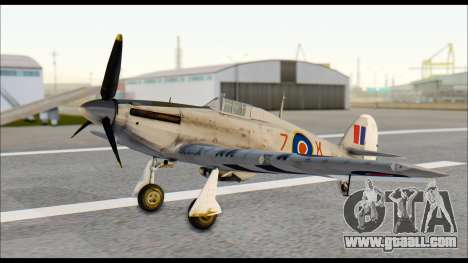 Hawker Hurricane MK IA for GTA San Andreas right view