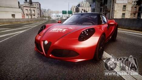 Alfa Romeo 4C 2014 WTCC Safety Car for GTA 4
