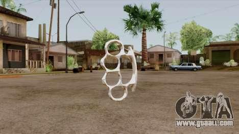 Original HD Brass Knuckle for GTA San Andreas