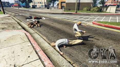 Raining peds for GTA 5